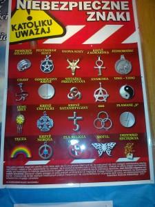Plakat wywieszony w kościele w Czerwińsku