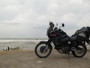 Teresa na morzem Kaspijskim
